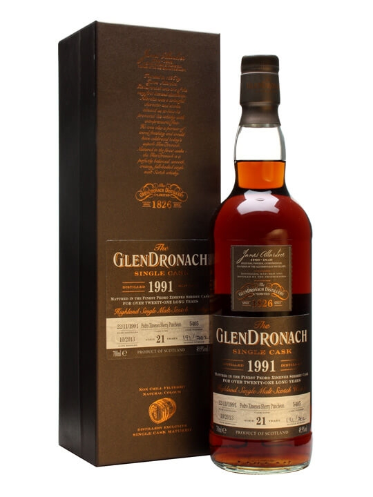Glendronach 1991 / 21 Year Old / Px Puncheon #5405 Speyside Whisky
