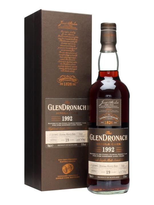 Glendronach 1992 / 19 Year Old / Oloroso Butt #1123 Speyside Whisky