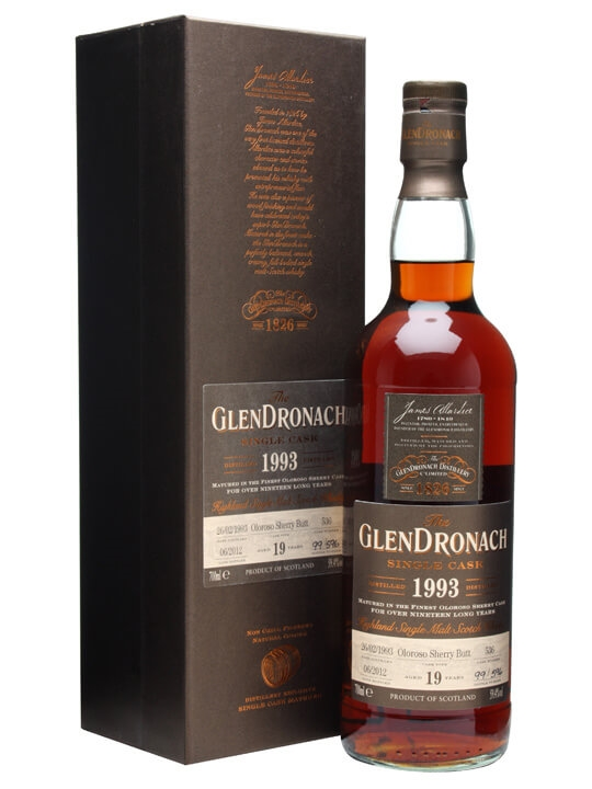 Glendronach 1993 / 19 Year Old / Oloroso Sherry Butt #536 Highland Whisky