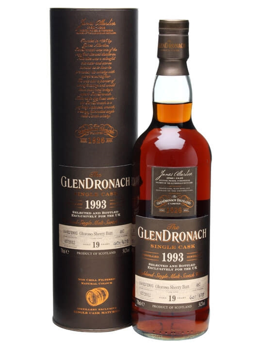 Glendronach 1993 / 19 Year Old / Sherry Cask #487 Speyside Whisky
