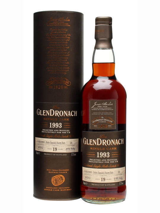 Glendronach 1993 / 19 Year Old / Px Butt #26 Speyside Whisky