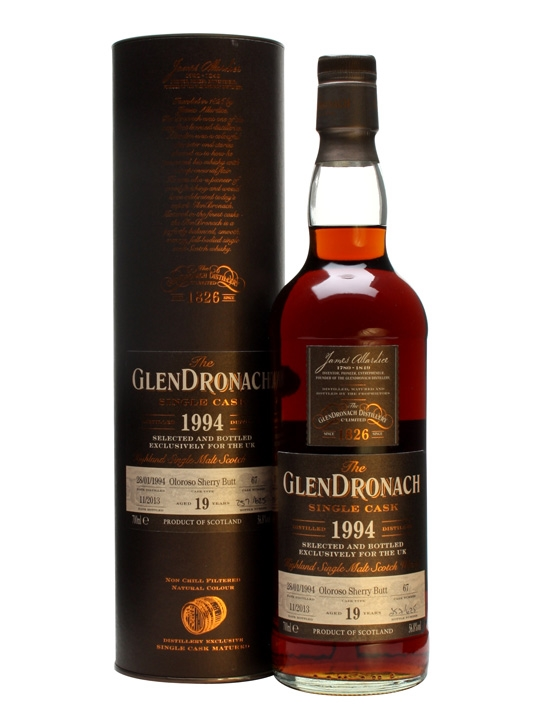 Glendronach 1994 / 19 Year Old / Oloroso Butt #67 Speyside Whisky