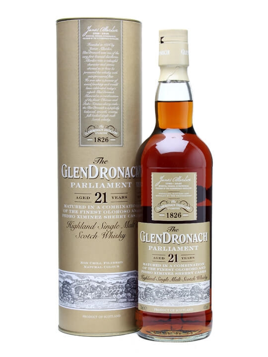 Glendronach 21 Year Old Parliament / Sherry Cask Speyside Whisky