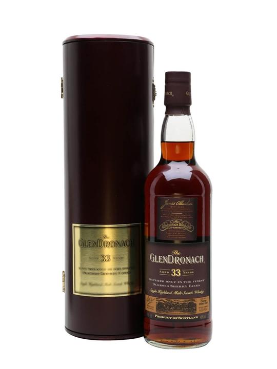 Glendronach 33 Year Old / Oloroso Sherry Cask Speyside Whisky