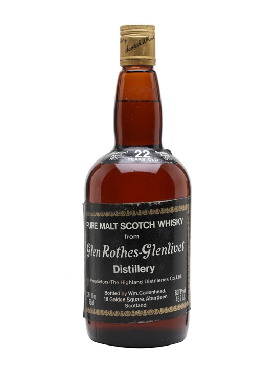 Glenrothes-glenlivet 1957 / 22 Year Old Speyside Whisky