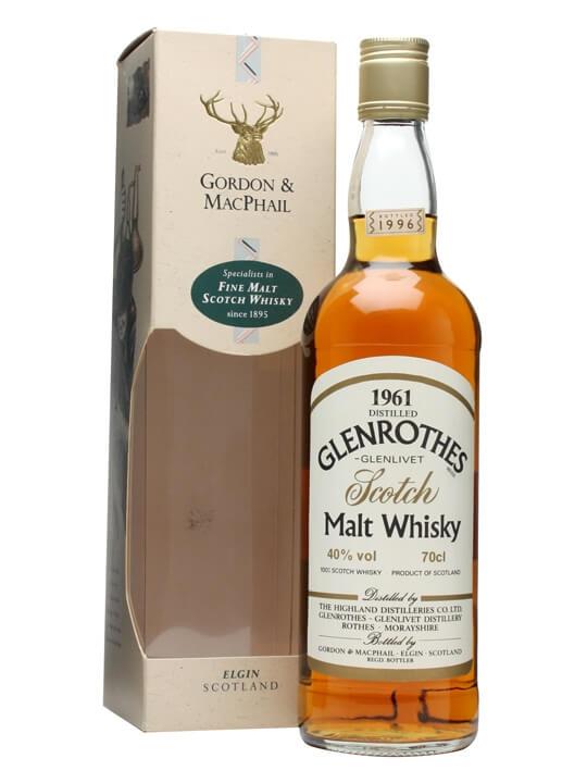 Glenrothes 1961 / Bot.1996 / Gordon & Macphail Speyside Whisky