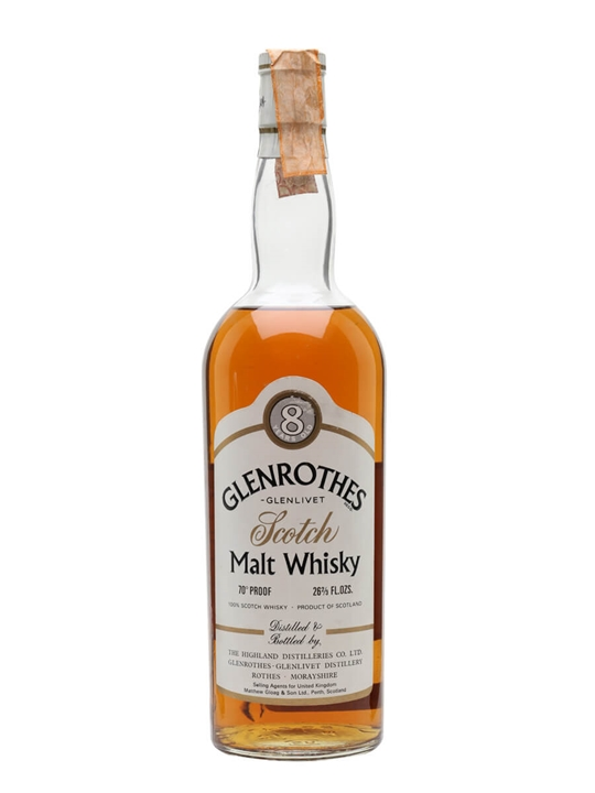 Glenrothes 8 Year Old / Bot.1970s Speyside Single Malt Scotch Whisky