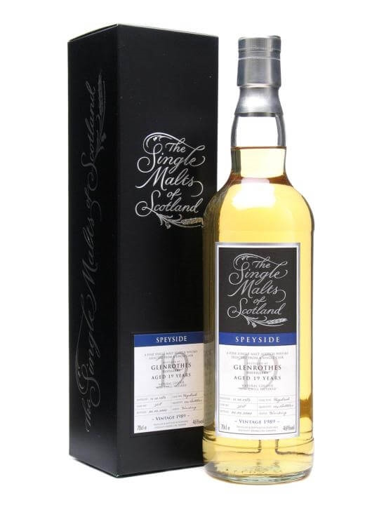 Glenrothes 1989 / 19 Year Old Speyside Single Malt Scotch Whisky