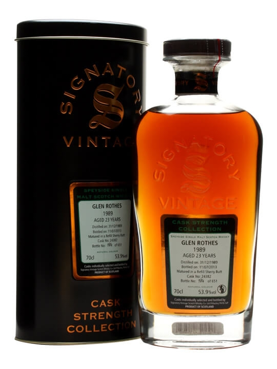 Glenrothes 1989 / 23 Year Old / Sherry Cask / Signatory Speyside Whisky