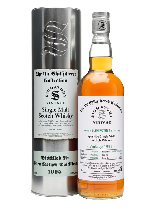 Glen Rothes 1995 / 17 Year Old / Sherry Butt #6182 Speyside Whisky