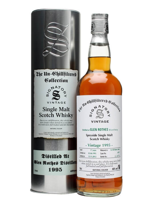 Glenrothes 1995 / 17 Year Old / Sherry Butt #6975 Speyside Whisky