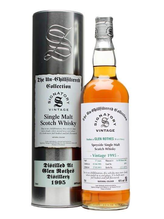 Glenrothes 1995 / 17 Year Old / Sherry Butt 6974 / Signatory Speyside Whisky