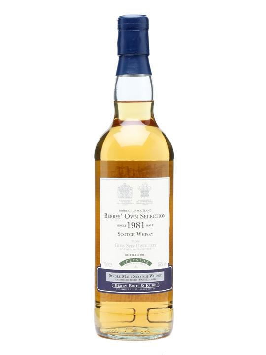 Glen Spey 1981 / Cask #121 / Berry Bros & Rudd Speyside Whisky