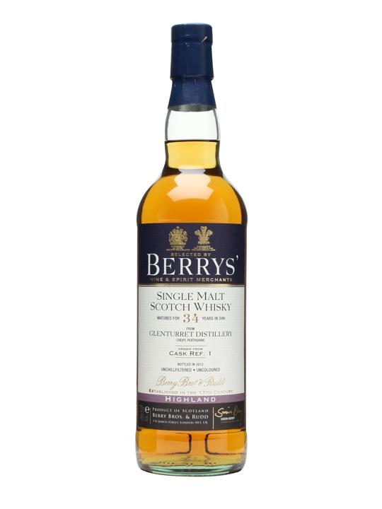Glenturret 34 Year Old / Cask #1 / Berry Bros & Rudd Highland Whisky