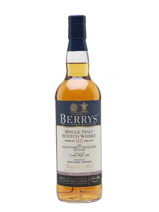 Glenturret 35 Year Old / Cask #26 / Berry Brothers & Rudd Highland Whisky