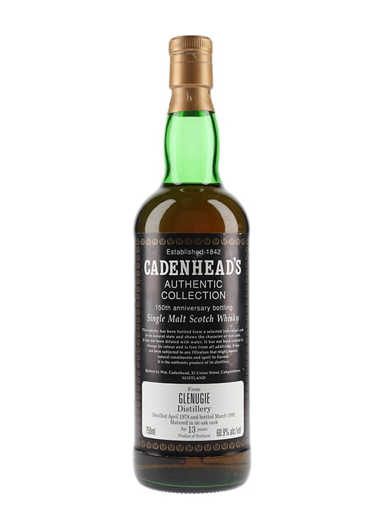 Glenugie 1978 / 13 Year Old / Cadenhead's Highland Whisky