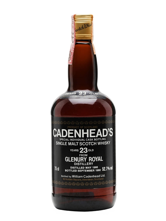 Glenury Royal 1966 / 23 Year Old / Cadenhead's Highland Whisky