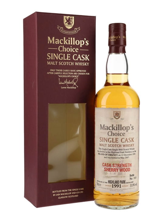 Highland Park 1991 / Sherry Wood / Mackillop's Island Whisky