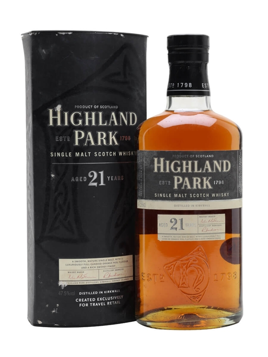 Highland Park 21 Year Old Island Single Malt Scotch Whisky