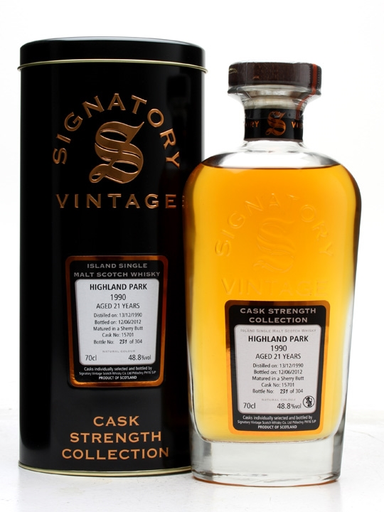 Highland Park 1990 / 21 Year Old / Sherry Butt #15701 Island Whisky