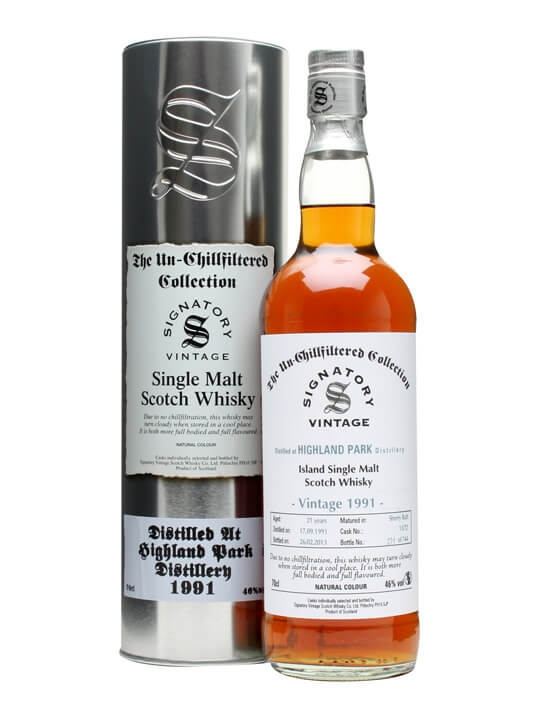 Highland Park 1991 / 21 Year Old / Butt #13/72 / Signatory Island Whisky