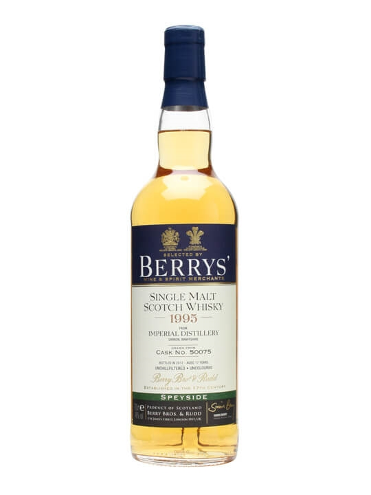 Imperial 1995 / 17 Year Old / Cask #50075 / Berry Bros Speyside Whisky