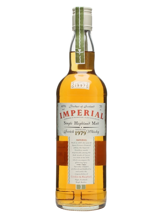 Imperial 1979 / Bot.1997 / Gordon & Macphail Speyside Whisky