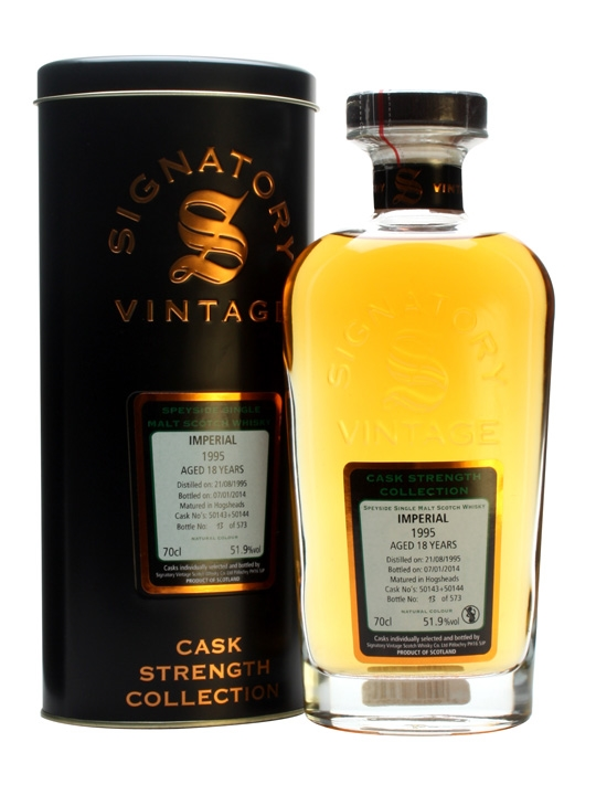 Imperial 1995 / 18 Year Old / Cask #50143+4 / Signatory Speyside Whisky
