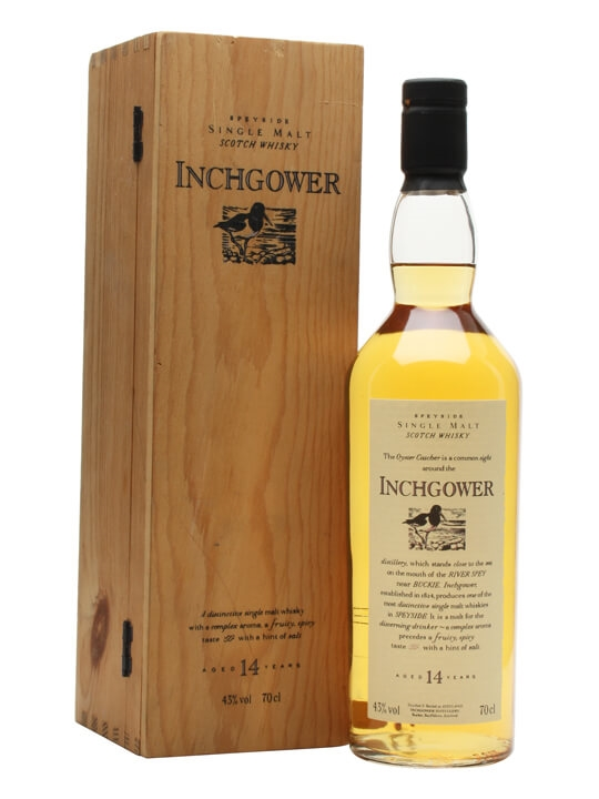 Inchgower 14 Year Old / Flora & Fauna / Wooden Box Speyside Whisky