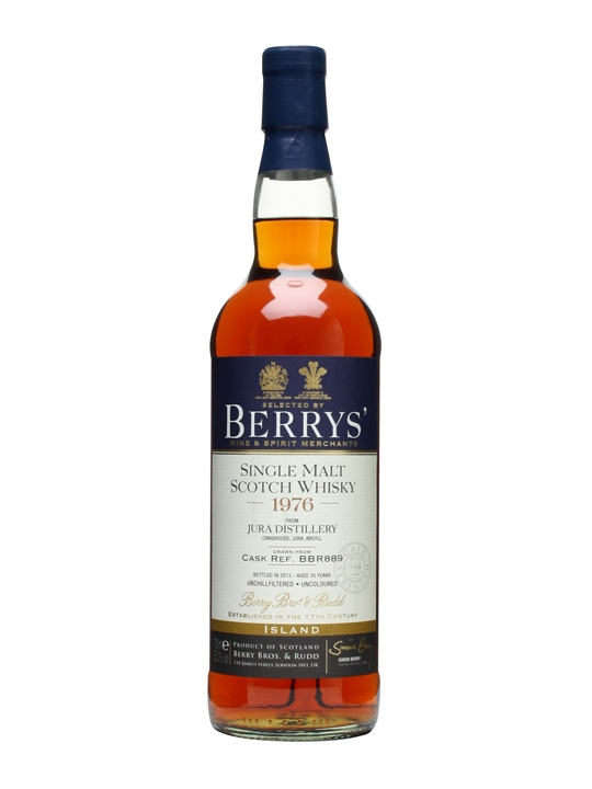 Jura 1976 / 35 Year Old / Cask #889 / Berry Brothers & Rudd Island Whisky