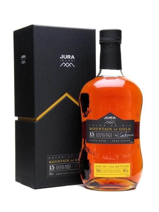 Isle Of Jura Mountain Of Gold / 15 Year Old / Pinot Noir Finish Island Whisky