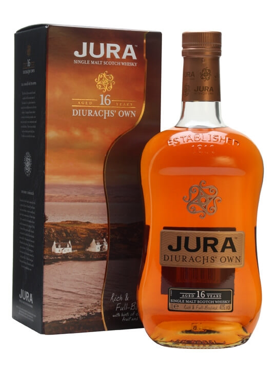 Isle of Jura 16 Years Old / Litre Island Single Malt Scotch Whisky