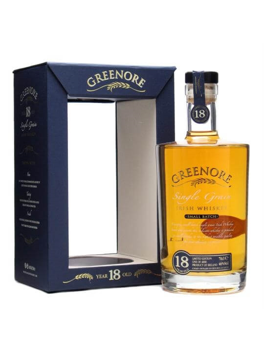 Greenore 18 Year Old Irish Single Grain Whiskey