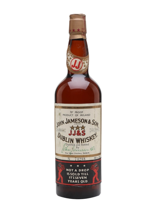 Jameson 7 Year Old / Bot.1960s Blended Irish Whiskey