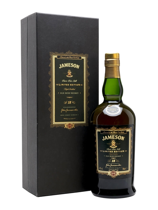 Jameson 15 Year Old / Limited Edition Pot Still Irish Whiskey