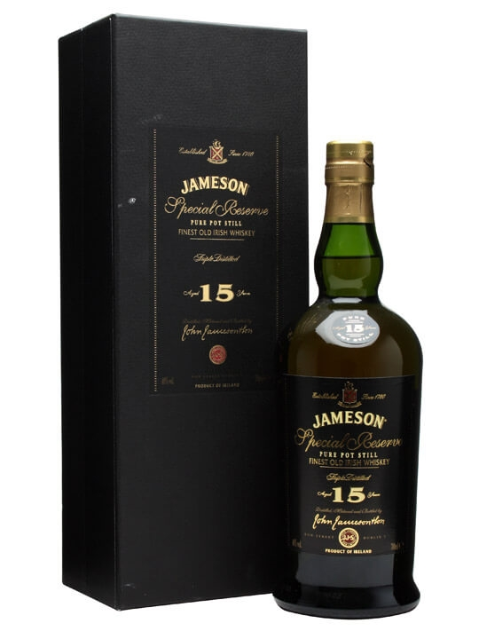 Jameson 15 Year Old / Special Reserve Single Pot Still Irish Whiskey