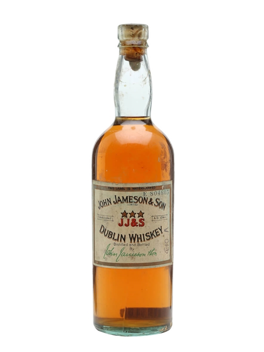 John Jameson & Son / 3 Star / Bot.1940s Blended Irish Whiskey