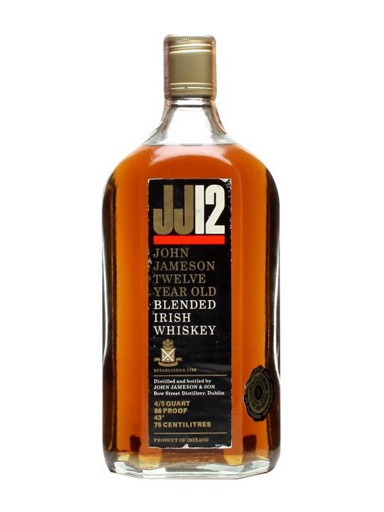 John Jameson 12 Year Old / Bot.1970s Blended Irish Whiskey
