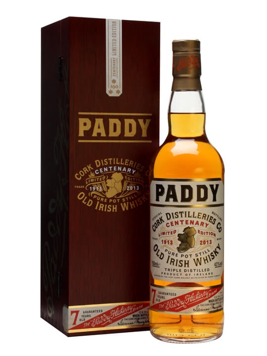 Paddy Centenary Edition Single Pot Still Irish Whiskey