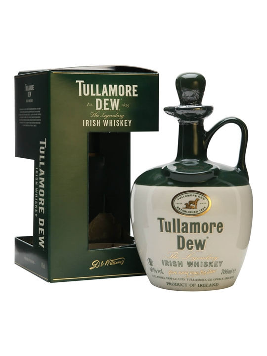 Tullamore Dew Ceramic Decanter Blended Irish Whiskey