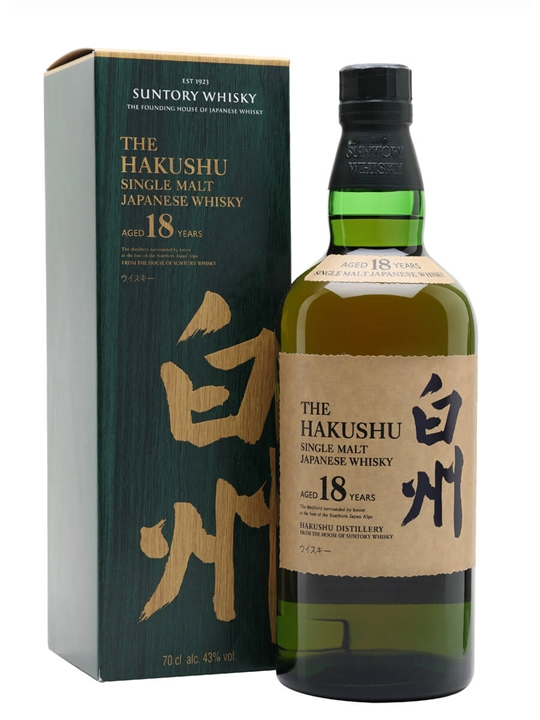 Suntory Hakushu 18 Year Old Japanese Single Malt Whisky