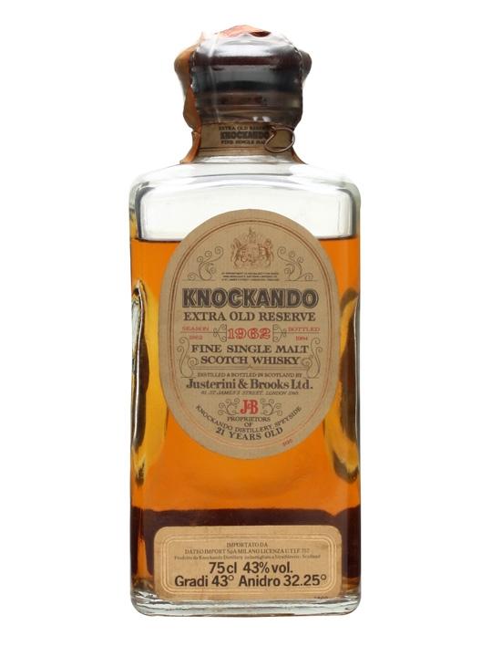 Knockando 1962 Extra Reserve / Bot.1984 Speyside Whisky