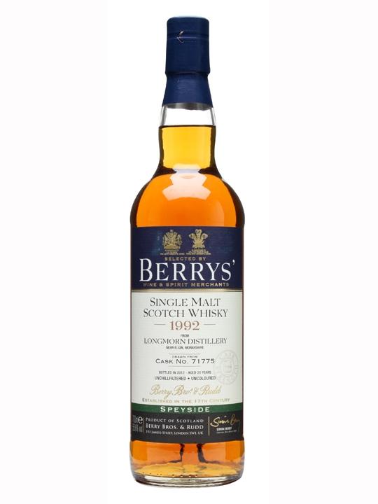 Longmorn 1992 / 20 Year Old / Cask 71775 / Berry Bros & Rudd Speyside Whisky