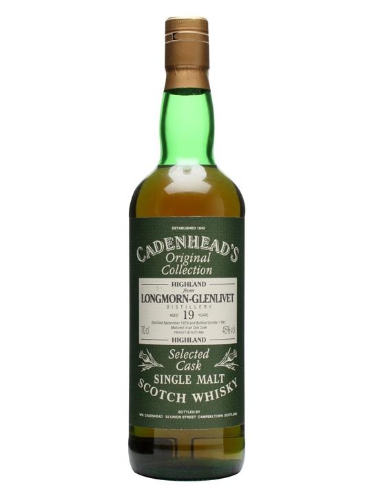 Longmorn-glenlivet 1974 / 19 Year Old / Cadenhead's Speyside Whisky