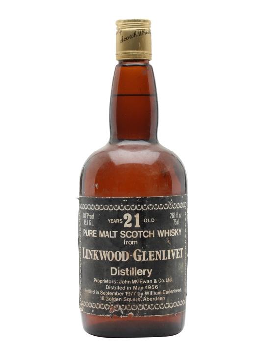 Linkwood-glenlivet 1956 / 21 Year Old / Cadenhead's Speyside Whisky