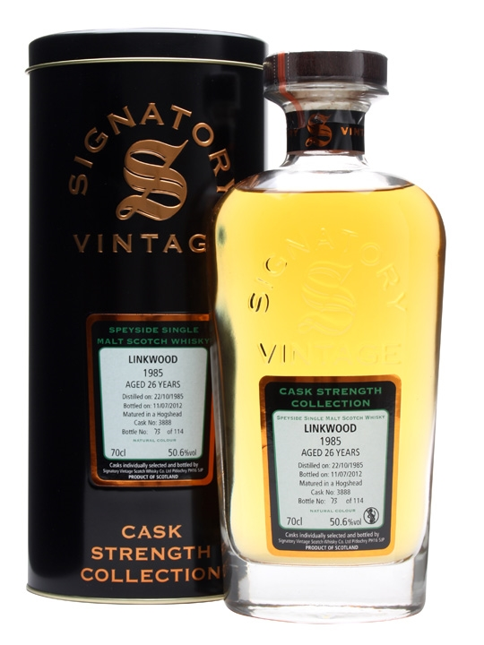 Linkwood 1985 / 26 Year Old / Cask #3888 / Signatory Speyside Whisky