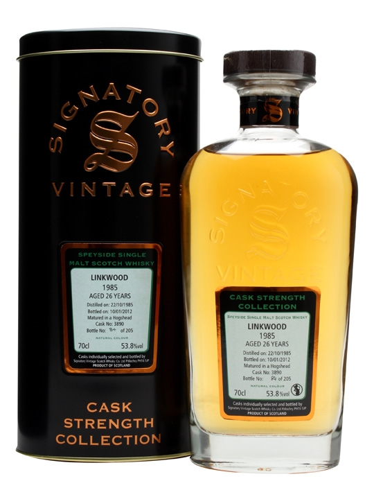 Linkwood 1985 / 26 Year Old / Cask #3890 / Signatory Speyside Whisky