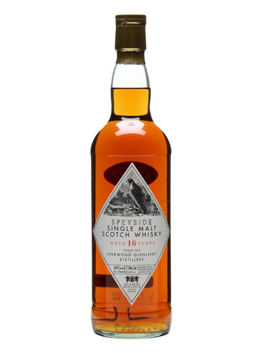 Linkwood 16 Year Old / Twe Retro Label Speyside Whisky