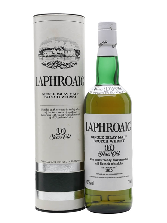 Laphroaig 10 Year Old / Bot.1990s (Pre Royal Warrant) Islay Whisky