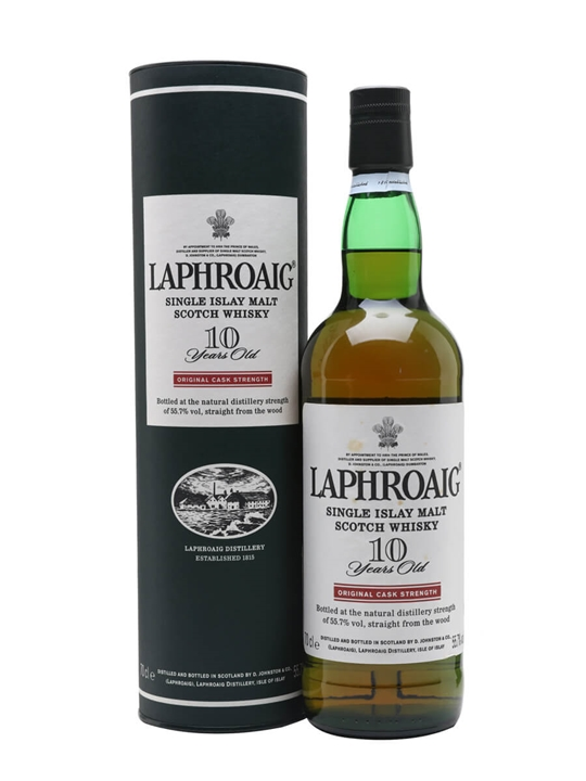 Laphroaig 10 Year Old / Cask Strength Islay Single Malt Scotch Whisky